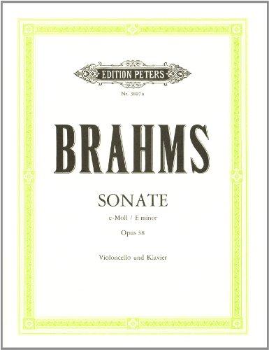 Sonate e-Moll op.38 : fürVioloncello und Klavier: Johannes Brahms