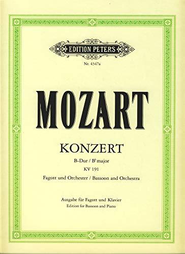 Konzert B-Dur KV191 für Fagottund Orchester : für Fagott und: Wolfgang Amadeus Mozart