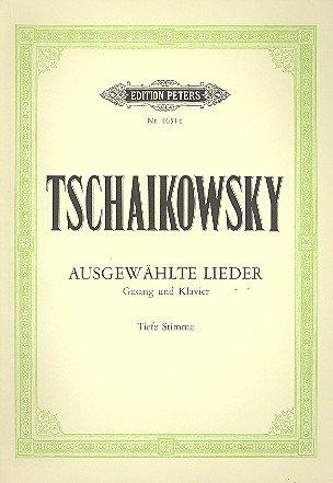 9790014030803: EDITION PETERS TCHAIKOVSKY - AUSGEWÄHLTE LIEDER (CHANT VOIX BASSE) Partition classique Vocale - chorale Voix solo, piano
