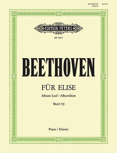 Für Elise a-Moll WoO 59: Albumblatt für: Ludwig van Beethoven