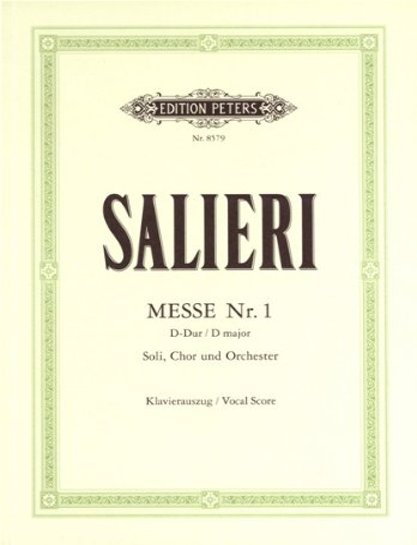 Messe Nr. 1 D-Dur (Hofkapellmeister-Messe), Klavierauszug: Antonio Salieri