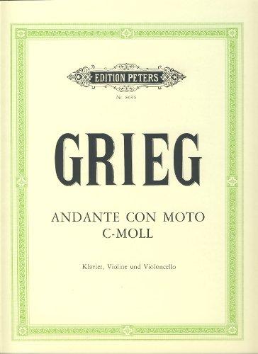 Andante con moto c-Moll :für Klavier, Violine und Violoncello: Edvard Hagerup Grieg
