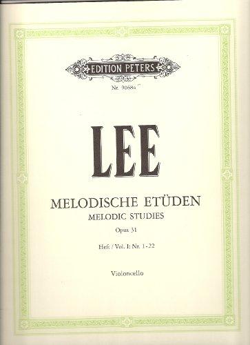 Melodische Etüden op.31 Band 1(Nr.1-22) : für Violoncello: Sebastian Lee