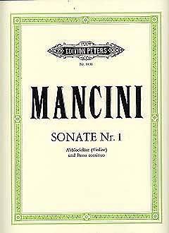 Sonate d-Moll Nr.1 : fürAltblockflöte (Violine) und Bc: Francesco Mancini