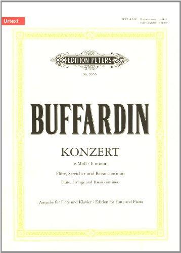 Concerto e-Moll : für Flöte,Streicher und Bc: Pierre Gabriel Buffardin