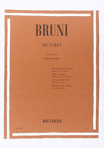 Metodo per viola seguitoda 25 studi (it/fr/en): Antonio Bartolomeo Bruni