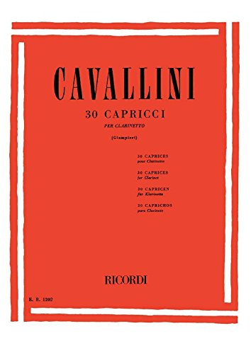 9790041812021: 30 Capricci Clarinette