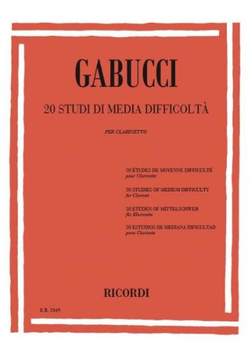 20 mittelschwere Etüden : für Klarinette: Agostino Gabucci
