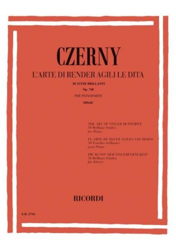 Die Kunst der Fingerfertigkeit50 brillante Etüden op.740: Carl Czerny
