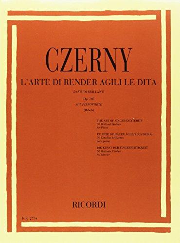 9790041827346: CZERNY - Op. 740 El Arte de dar Soltura a los dedos para Piano (Riboli)