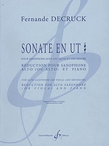 Sonate en ut pour saxophone alto ou alto et orchestre :pour saxophone alto (ou alto) et piano: ...