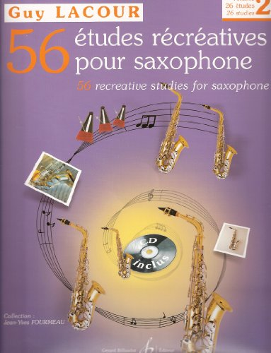 9790043071662: 56 études récréatives pour Saxophone Volume 2 +CD (French,English) (2)