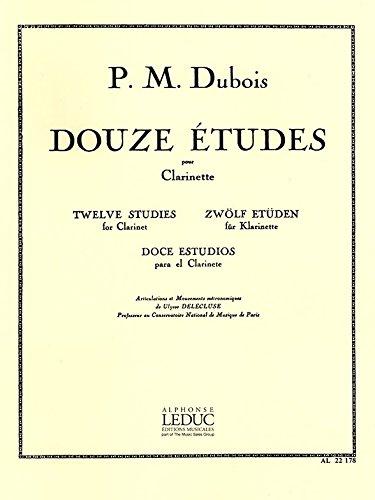 12 études : pour clarinette: Pierre Max Dubois