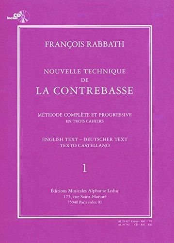 9790046254376: Rabbath: Nouvelle Technique de la Contrebasse Volume 1 (with CD)