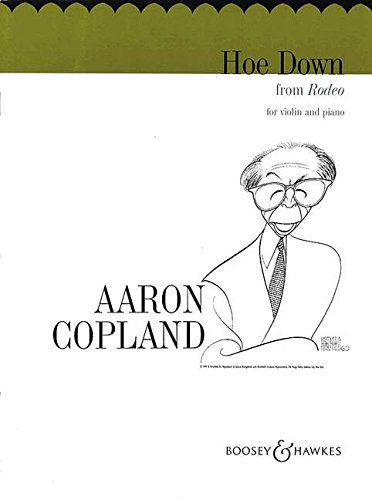 Hoe-down from Rodeo : for violinand piano: Aaron Copland