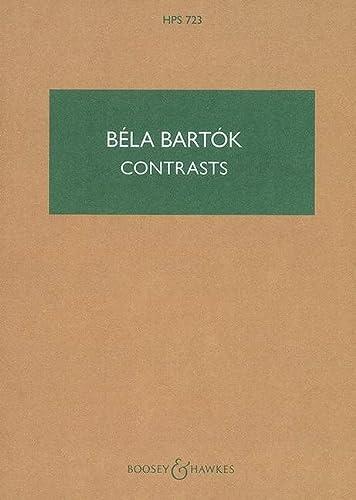 Contrasts : for violin,clarinet and piano: B�la Bart�k