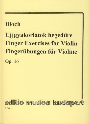 9790080024416: BLOCH - Ejercicios de Digitacion Op.16 para Violin