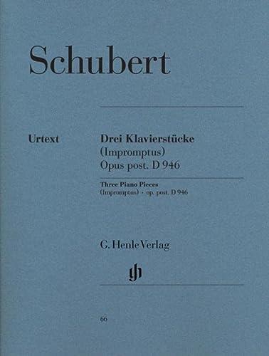 3 Klavierstücke (Impromptus) aus dem Nachlass D 946: Schubert, Franz / Mies, Paul