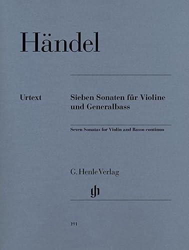 7 Sonaten für Violine und Generalbass (Paperback): Georg Friedrich Händel