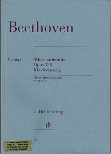 Beethoven Missa Solemnis Opus 123 Klavierauszug: Beethoven