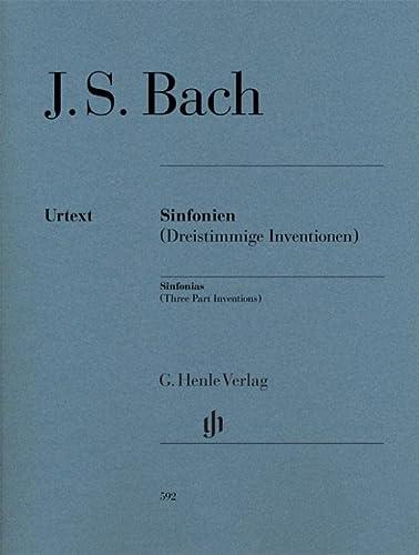 Sinfonien (Dreistimmige Inventionen) für Klavier zu zwei: Bach, Johann Sebastian