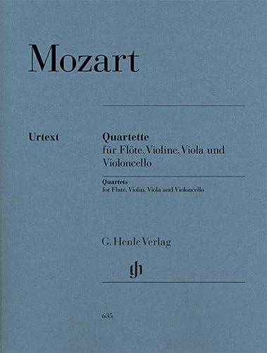 Flute Quartets for Flute, Violin, Viola and: Wolfgang Amadeus Mozart,