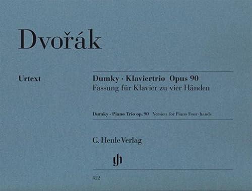 Dumky-Trio op.90 für Violine, Violoncellound Klavier : für Klavier zu 4 Händen: ...