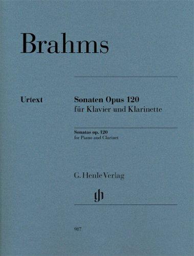 Sonaten op. 120 für Klavier und Klarinette: Johannes Brahms
