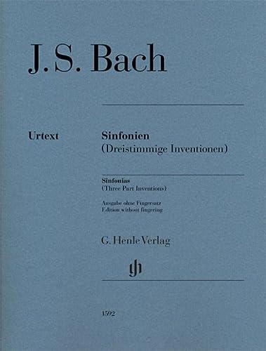 Sinfonien (Dreistimmige Inventionen) f?r Klavier zu zwei: Bach, Johann Sebastian
