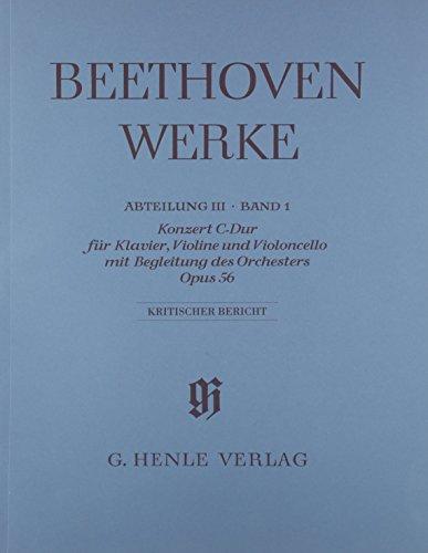 Konzert C-dur für Klavier, Violine und Violoncello mit Begleitung des Orchesters op. 56 (...