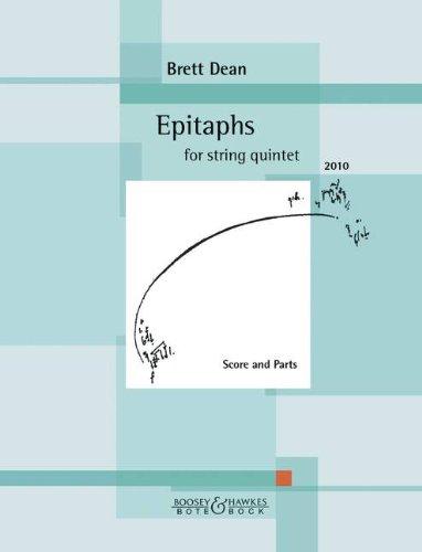Epitaphs: Streichquintett. Partitur und Stimmen.