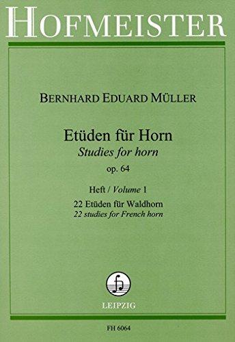 Etüden für Horn op.64, Heft 1: Bernhard E M�ller