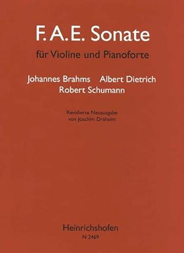 F.A.E. Sonate : für Violine undKlavier: Robert Schumann