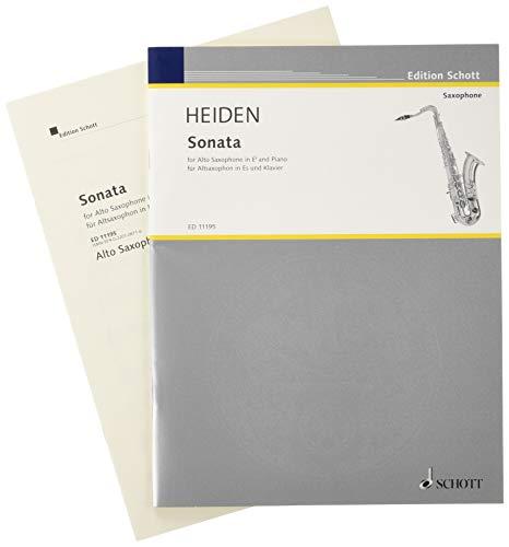 Sonata : for alto saxophone and piano: Bernhard Heiden
