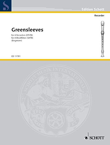Greensleeves :for 4 recorders (SATB)