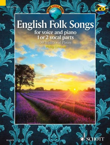 English Folk Tunes (+CD) : for 1-2 voicesand piano