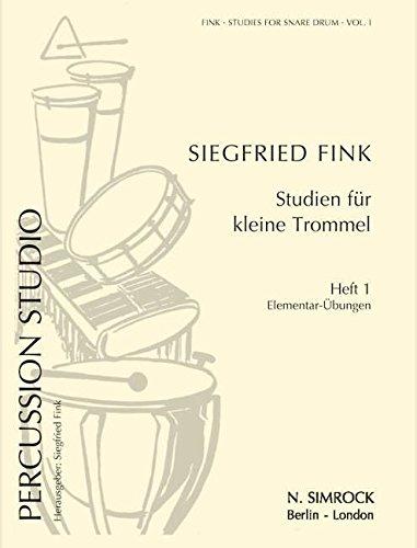 Studien für kleine Trommel 1 - Elementar: Fink Siegfried