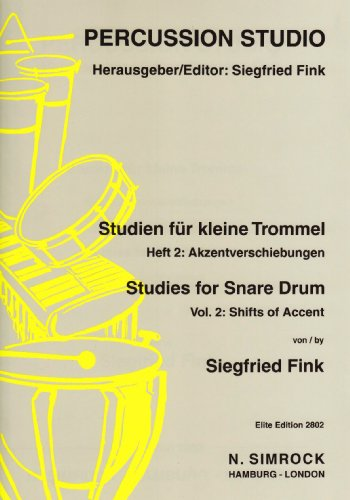 9790221101143: Studies for Snare Drum Vol. 2