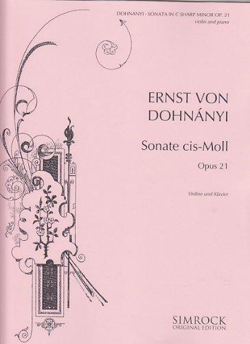 Sonate op.21 :für Violine und Klavier: Ern� (Ernst von) Dohnanyi