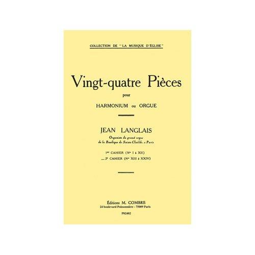 24 pièces vol.2 (nos.13-24) :pour harmonium (orgue): Jean Langlais
