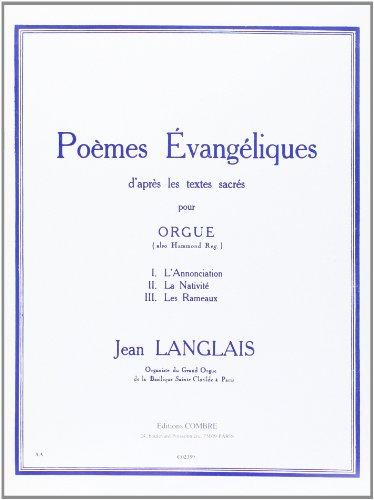 Poèmes évangéliques :pour orgue: Jean Langlais