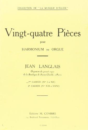 24 pièces vol.1 (nos.1-12) :pour harmonium (orgue): Jean Langlais