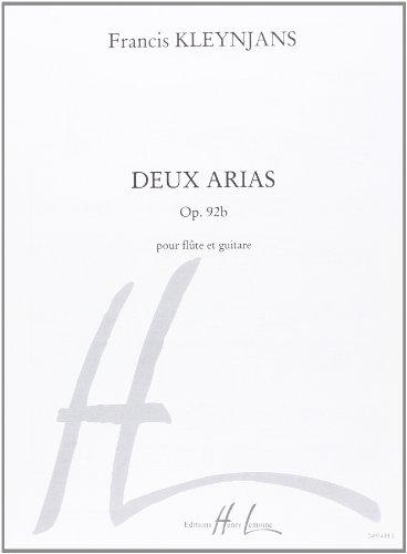 2 arias op.92b : pour flûte et: Francis Kleynjans