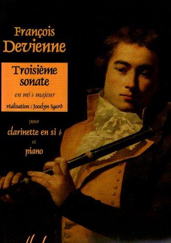 Sonate en mi b major no.3 :pour clarinette et piano: Francois Devienne