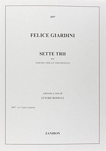 6 Trii : per violino,viola e violoncello: Felice de Giardini
