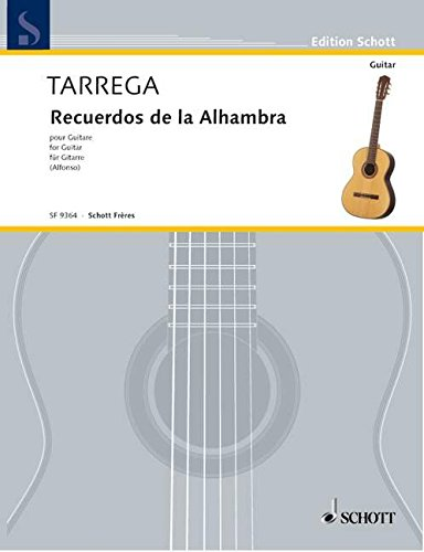 Recuerdos de la Alhambra: Tr?molo-Etude. Gitarre. (Edition: Francisco Tárrega