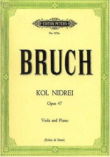 Kol Nidrei op.47 : für Viola undKlavier: Max Bruch