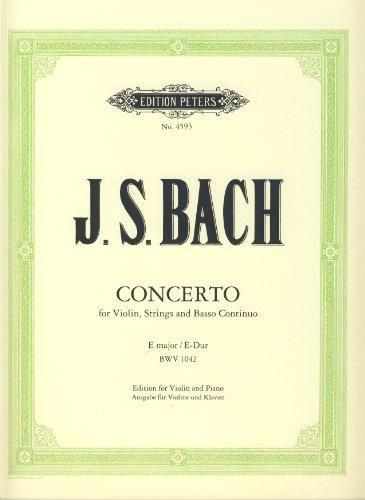 Konzert E-Dur BWV1042 für Violineund Streicher : für Violine und: Johann Sebastian Bach