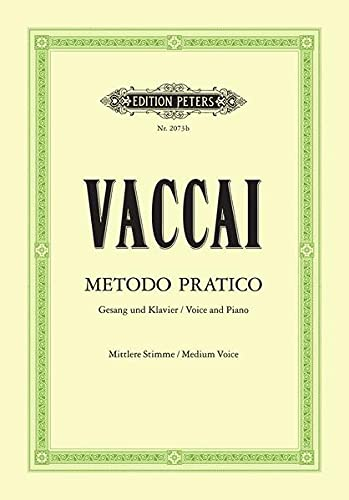 Metodo pratico di canto italiano (+CD) :für mittlere Stimme und Klavier: Nicola Vaccai
