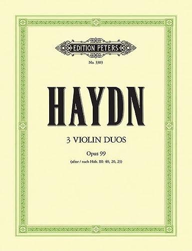 3 Duos op.99 : für 2 ViolinenStimmen: Franz Joseph Haydn
